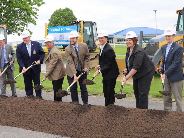Garmann Miller breaking ground at construction project